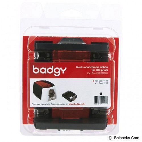 BADGY Black Ribbon for 500 Prints [CBGR0500K] - Pita & Label Printer Lainnya